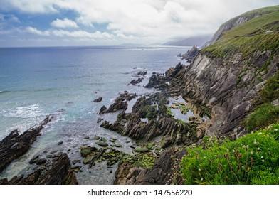 Cliffs in Ireland seashore