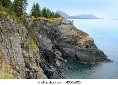 Cliffs at Kodiak Island, Alaska