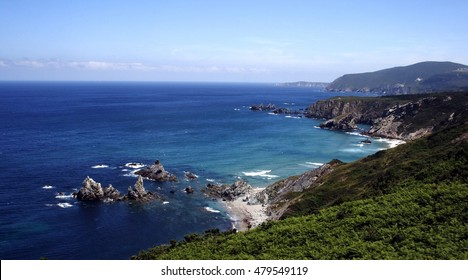 Cliffs of Loiba, A Coruna,Galicia,famous for its sharp spiers, inaccessible beaches, for having the bank with the best views of the world, near Cape Ortegal and the Cape Stake bars in the Ortegal cove