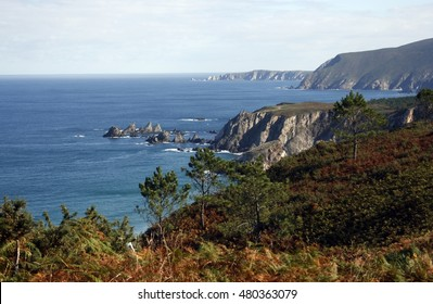 ,Cliffs of Loiba, famous for its sharp spiers, inaccessible beaches, for having the bank with the best views of the world, near Cape Ortegal and the Cape Stake bars in the Ortegal cove, spain, Galicia