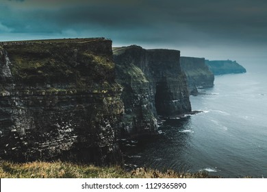 Cliffs of Moher during a storm