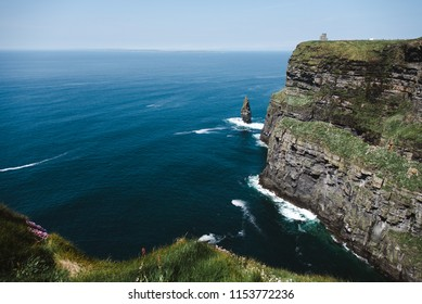 Cliffs of Moher, Ireland, Sunny Day