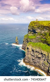 Cliffs of Moher Ireland travel traveling sea nature portrait format ocean Atlantic