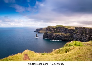 Cliffs of Moher near Liscannor, in Ireland