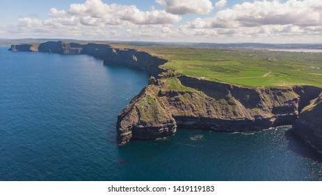 Cliffs of Moher on a clear sunny day