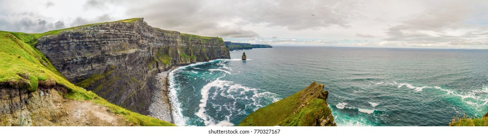 Cliffs of Moher panorama, Ireland