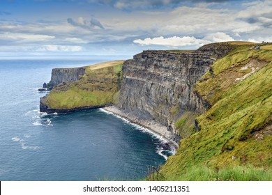 Cliffs of Moher are sea cliffs located at the southwestern edge of the Burren region in County Clare, Ireland