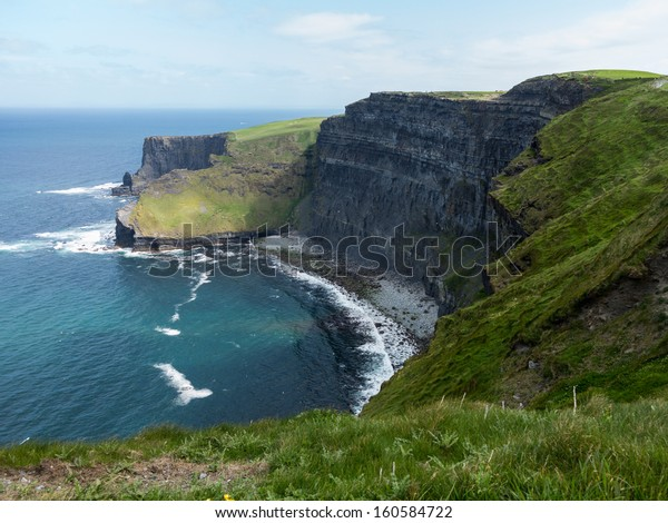 Cliffs of Moher in South Western Ireland in Burren Region of County Clare