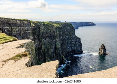 Cliffs of Moher Tourist Attraction in Ireland, County Clare.