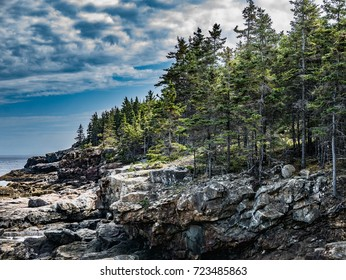 Cliffs on Great Head Trail, Mount Desert Island, Maine