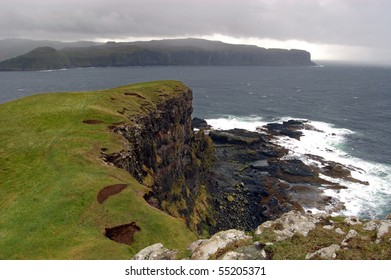 The cliffs on the island of Oronsay on the west coast of Skye