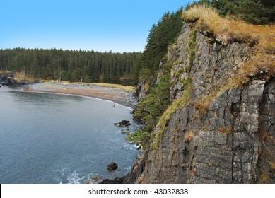 Cliffs on Kodiak Island, Alaska