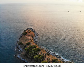 The cliffs on the sea, taken from high-rise images