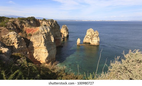 cliffs at ponta da piedade cape, Lagos, algarve portugal