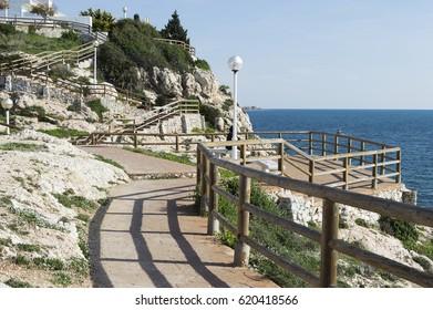 Cliffs of Rincon de la Victoria costa del sol Malaga Spain acantilados