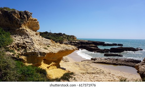 cliffs and rocks near evarista on the algarve