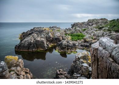 Cliffs and Rocks on the danish island Bornholm.