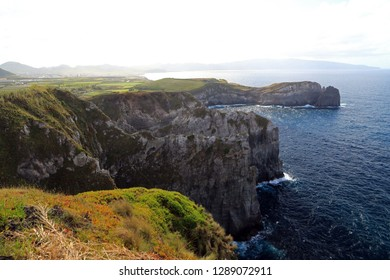 Cliffs, Sao Miguel Island, Azores, Portugal
