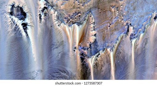 cliffs of the seabed, tribute to Pollock, abstract photography of the deserts of Africa from the air, aerial view, abstract expressionism, contemporary photographic art, abstract naturalism,