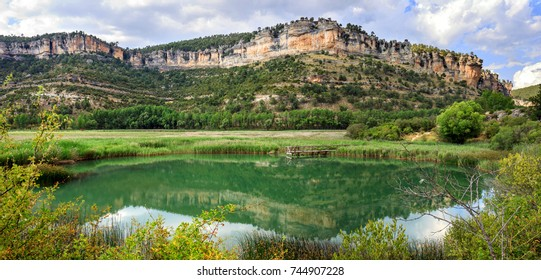 Cliffs of Serrania de Cuenca natural park, near the lake of Uña, in the province of Cuenca, Spain;