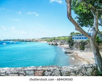 Cliffs and views at Playa Forti - Curacao, Dutch Caribbean