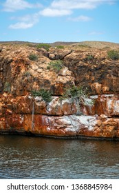 Cliffs of Yardie Creek at the Cape Range National Park close to Exmouth Australia