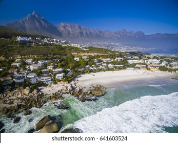 Clifton Beaches in Cape Town with Table Mountain in background - South Africa