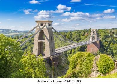 Clifton Suspension Bridge, Bristol, Avon, England, UK