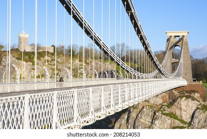 Clifton Suspension Bridge by Brunel, above the River Avon in Bristol, England, UK