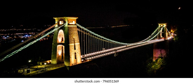 Clifton Suspension Bridge is a famous landmark for the city of Bristol, England. Photo taken in 2016.
