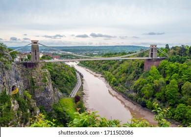 Clifton Suspension Bridge.  Opened in 1864 it lies over the Avon Gorge in Bristol, UK