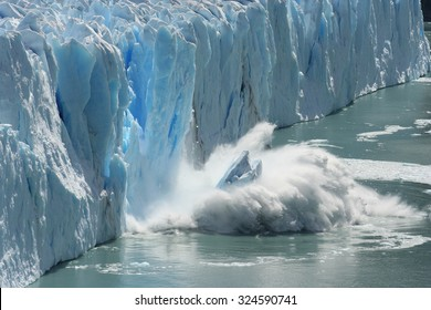 Climate Change - Antarctic Melting Glacier in a Global Warming Environment - Shutterstock ID 324590741