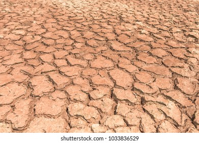 Climate change and dry soil in cracks