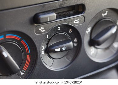 Climate control console of a car