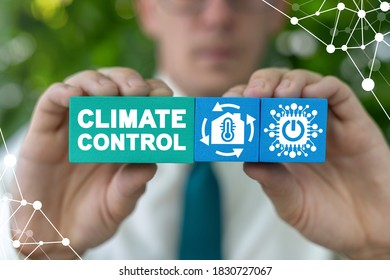 Climate Control Smart Automation Home Computer System Concept.