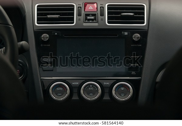 Climate Control Unit Display New Car Stock Photo (Edit Now