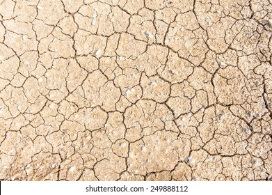 The climate summer  is too hot, Water is gone and the soil become cracked ground.