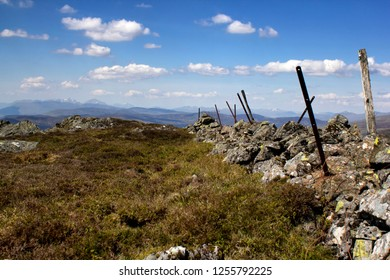 The climb to Ben Chonzie in the Highlands, Perthshire in Scotland on a warm summers day,