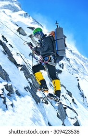Climber going to the summit