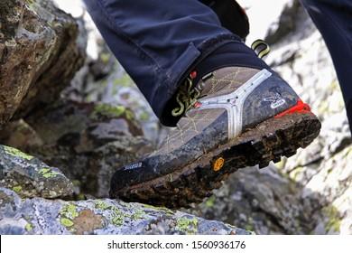 a climber needs a good shoes when climbing. Like salewa... climbing date  10 August 2013 ikizdere rize turkey