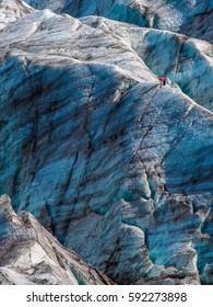 Climber on the glacier.
