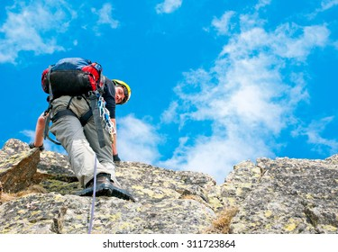 Climber on the mountains