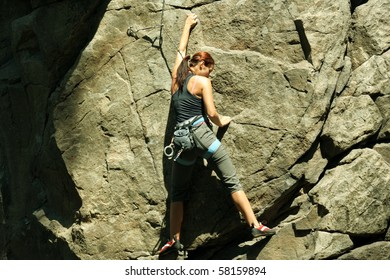 Climber on the route.