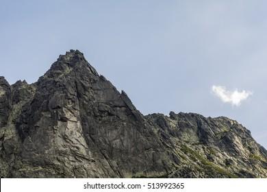 Climbers climbing on Wolowa Turnia (Volia veza, Volova veza) in the Tatra Mountains - Shutterstock ID 513992365