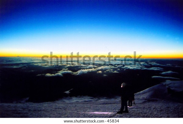 Climbers on Mount Rainier