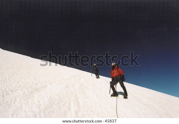 Climbers on Mount Rainier