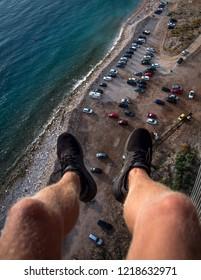 Climbing for adrenaline