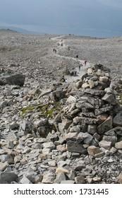 Climbing Ben Nevis in Scotland.