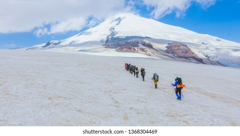 Climbing Elbrus. Aerial photography