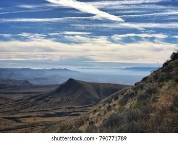 Climbing up Guadalupe Peak